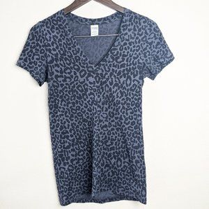 PINK Leopard Grey and Black Short Sleeve Tee Small